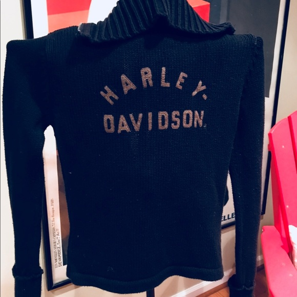 Harley Davidson Sweaters Vintage Harley Davidson Womens Sweater
